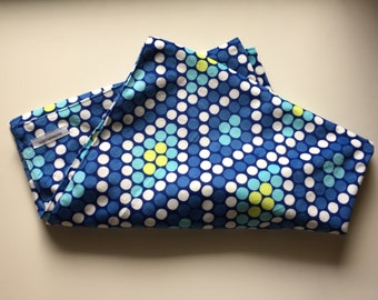 Baby Toddler Blue Dots Minky Blanket // In Stock Ready to Ship