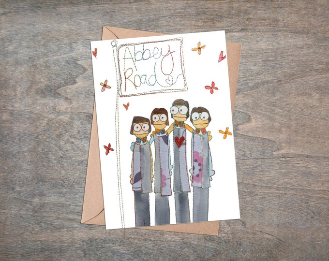 Iconic Liverpool - Beatles - Fab Four - Liverpool Waterfront - Lambanana -  Card pack of 5 - Blank Cards