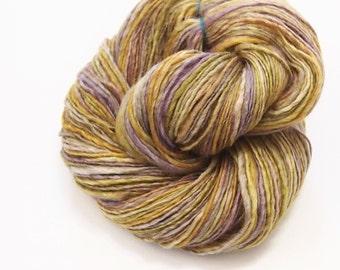 Heavy Fingering/Sport weightspingles - Handspun yarn singles- BFL Wool and Silk - 261 yards of handspun singles yarn