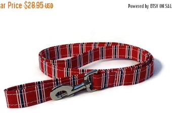 EASTER SALE Red Patriotic Stripe Dog Leash for Small to Large Dogs