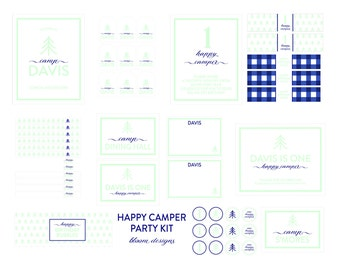 HAPPY CAMPER Party- Complete Party Kit by Bloom