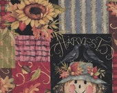 Fat Quarter, Scarecrow Fabric, Fall Fabric, Harvest Time Panch, Scarecrow Fall Fabric, 01824