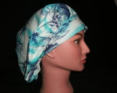 palm tree bouffant scrub hat