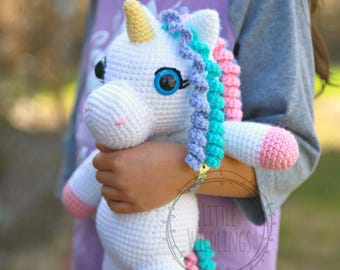 Iris the Unicorn crocheted plushie
