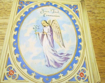 First Communion Card, Memory Lane, 1940s