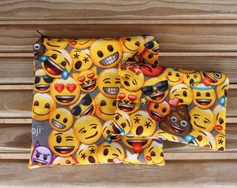 Reusable ZIPPER Sandwich Bag and Snack Bag Combo, Emoji - ZIPPER Sandwich Bag / Reusable Bag Combo / Green Living
