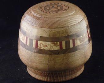 White Oak & Burl Wood Pet Urn # 1145-42
