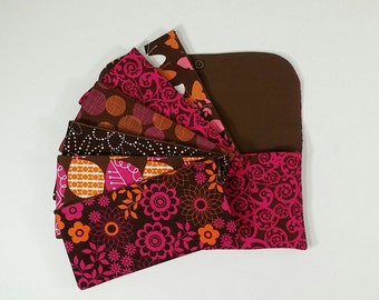 Cash Envelope Wallet, Cash Budget System -Hot Pink Scroll (It can be used with the Dave Ramsey system)