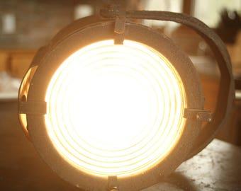 1920s Vaudeville Spot Light, Vintage Stage Light, Lamp, Light, Black Metal Base
