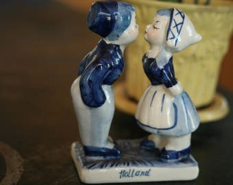 FALL SALE - Dutch Holland Boy and Girl Porcelain Figurines, Delft Blue, Holland, Collectibles, Gift, Home Decor, Home, Mother's Day