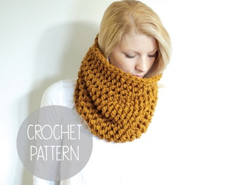 crochet pattern - easy textured one hour crochet cowl - the barnwell