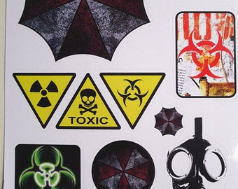 Retro Decorative Sticker Laptop Suitcase Sticker Masking Sticker - 1 Sheet 11 Pcs