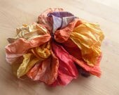 Hope Jacare Creative Textiles Hand dyed lightweight Silk fabric 6 pieces approx A4 each - LWS73
