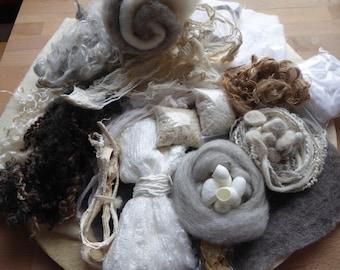 Hope Jacare - Mega Texture pack - Pre-Felt, nepps, sparkles, kozo, silk , plant fibre and more TP03
