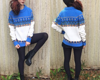 Vintage 1970's Thick Knit Sweater S M
