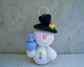 Snowman - Polymer Clay - Christmas - Holiday Ornament