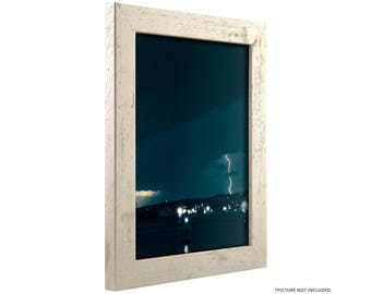 "Craig Frames, 4x10 Inch Distressed Off-White Picture Frame, Bauhaus 1.25"" Wide (260120410)"