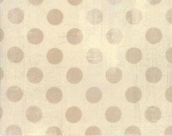 Grunge Hits the Spot - Dots in Manilla - Basic Grey for Moda - 30149-17 - 1/2 yard