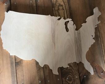 USA Wood Cutout, Naked, Unfinished