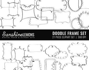Doodle Digital Frames - 27 piece set - COMMERCIAL USE Read Terms Below