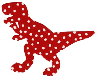 Iron on fabric applique dinosaur T rex DIY - size small