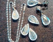 """1964 Republican Barry Goldwater Campaign Political Jewerly Set """"Goldwater Droplet"""""""