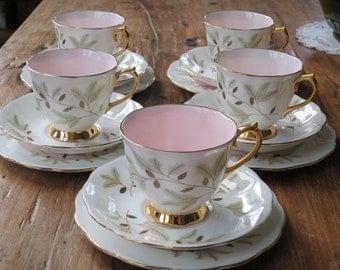 Royal Albert vintage china tea cup trio