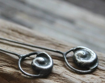Pewter Head Pins, Swirl Head Pins,  Gunmetal Silver, Tinwork Headpins, Dark Primitive