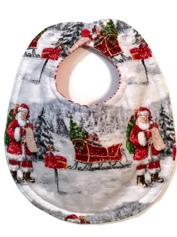 Santa bib christmas baby s first