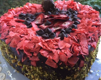Vegan Chocolate Walnut Coconut Heart Love  Cake!