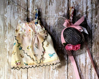 Blythe Dress Spring Handkerchief with Hat