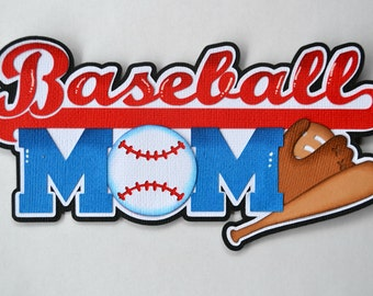 CraftECafe Paper Piecing Baseball Mom Premade Scrapbook Can Customize Sports