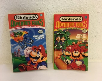 Vintage Books, Nintendo Adventure Book, Mario Book, Luigi Book, Mario Brothers, Choose Your Own Adventure