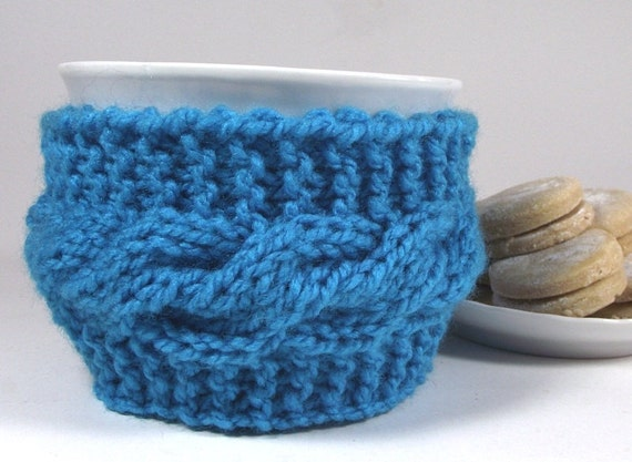 Knitting Pattern For Mug Holder : KNITTING PATTERN COZY Cup holder - Lazy Morning - cozy ...