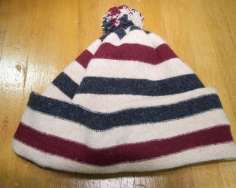 Winter Lambswool Knit PomPom Hat cap
