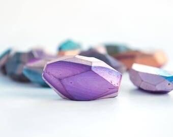 Polymer Clay Beads, Big Beads, Striped Beads, Handmade Beads, Jewelry Supplies, Beading Supplies