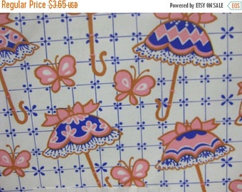1 Week Sale 2 Sheets Vintage Spring Shower Umbrella-Butterflies Gift Wrap Paper