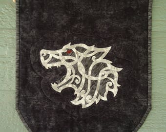 Celtic Wolf Banner, Large Banner, Wolf Wall Art