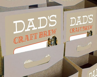 Custom 6-pack beer bottle carriers for Father's Day and other special events