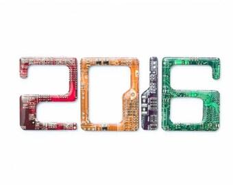 Circuit board numbers, home decor, door decor