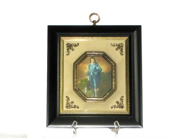 Vintage Gainsborough's Blue Boy Shadowbox Art Metalcraft Corporation