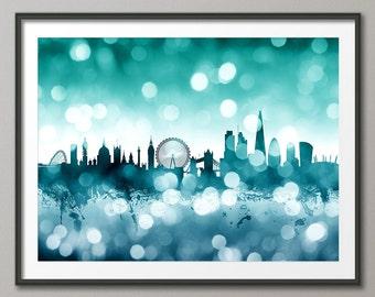 London Skyline, London Cityscape England, Art Print (2585)