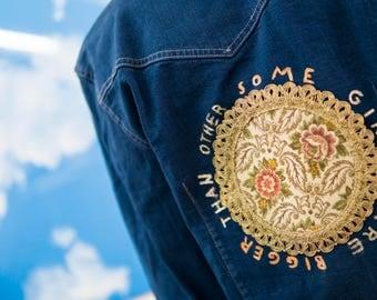 Some Girls Are Bigger Than Others - Redesigned VNTG Denim Jacket, The Smiths Denim Jacket