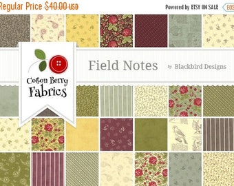 25% Off SALE Field Notes Layer Cake by Blackbird Designs for Moda - One Layer Cake - 37050LC