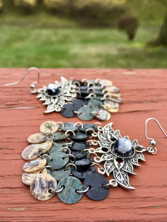 Moonlight Mussel Shell Earrings
