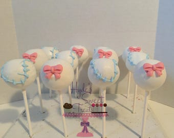 bows and/or baseball cake pops