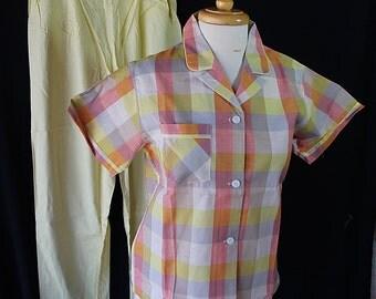 60s Lady Berkleigh Pajamas, Deadstock Lingerie