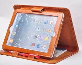 iPad pro 12.9 folio ipad case holder, Leather iPad pro case , iPad pro Leather portfolio, iPad leather sleeve for business  12.9 ipad case