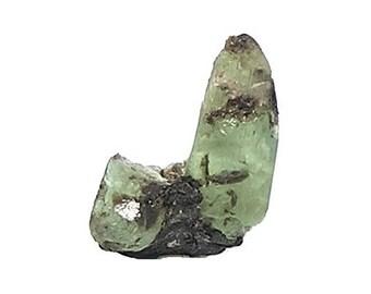 Emerald Crystal BIG Green Precious Natural Gemstone, Genuine Authentic Arctic Emerald with Mica, May Birthstone Raw Geo Gems Russian Jewels