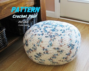 Pattern Crochet Pouf  Pdf Floor cushion Patterns Crochet Pattern Pattern Pouf Ottoman Pattern